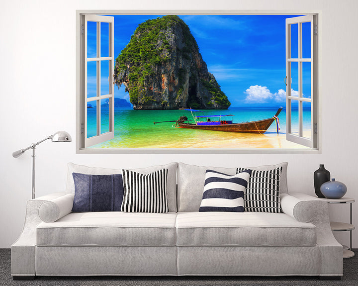Paradise Boat Sunshine Living Room Decal Vinyl Wall Sticker A071w