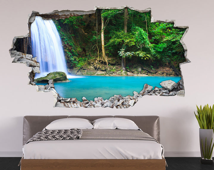 Beautiful Nature Waterfall Bedroom Decal Vinyl Wall Sticker A072