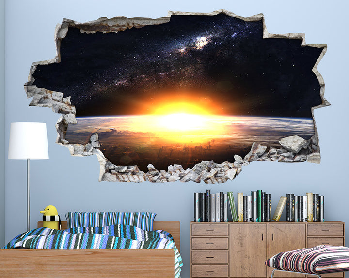 Sun Space Planet Boys Bedroom Decal Vinyl Wall Sticker A077