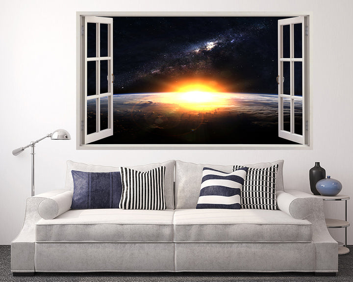 Bright Sun Space Living Room Decal Vinyl Wall Sticker A077w