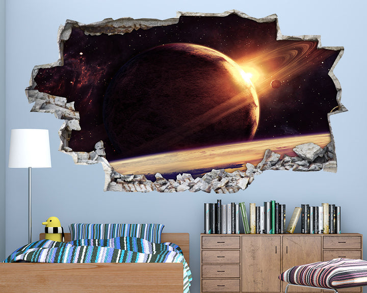 Jupiter Ring Space Boys Bedroom Decal Vinyl Wall Sticker A081