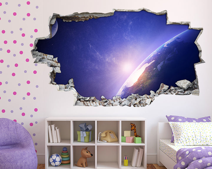Purple#7300E0 World Lighting Girls Bedroom Decal Vinyl Wall Sticker A085