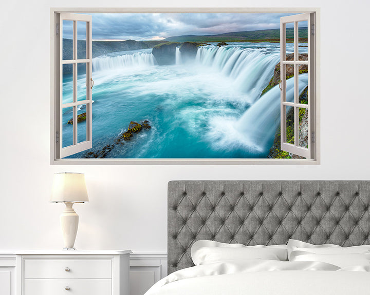 Beautiful Waterfalls Bedroom Decal Vinyl Wall Sticker A087w