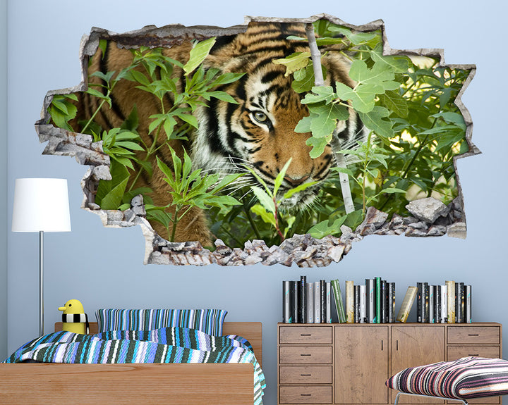 Hiding Tiger Trees Boys Bedroom Decal Vinyl Wall Sticker A096