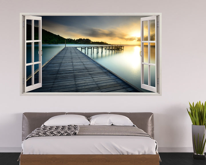 Peaceful Pier Bedroom Decal Vinyl Wall Sticker A097w