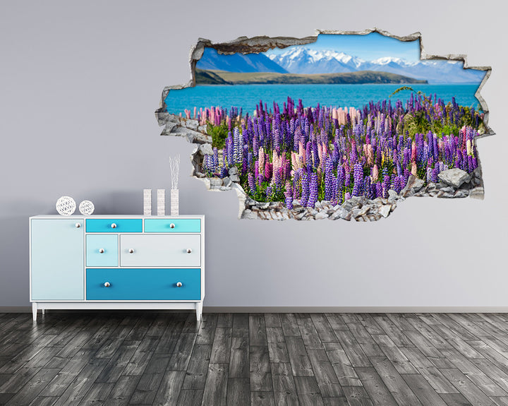 Scenic Lavender Flowers Hall Decal Vinyl Wall Sticker A099