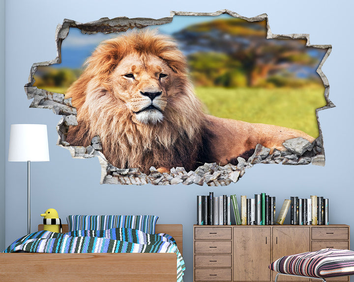 Lion Animal Boys Bedroom Decal Vinyl Wall Sticker A100