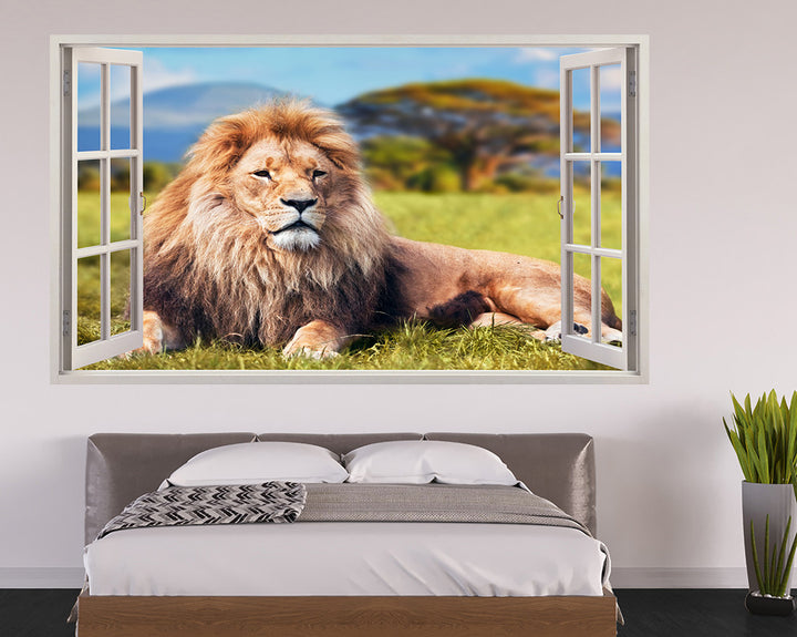 Lion Africa Bedroom Decal Vinyl Wall Sticker A100w