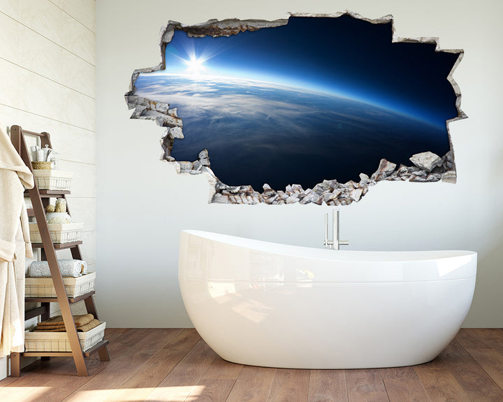 Bright Horizon Earth Bathroom Decal Vinyl Wall Sticker A103