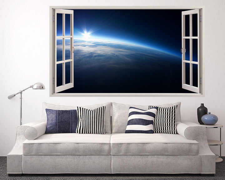 Bright Planet Horizon Living Room Decal Vinyl Wall Sticker A103w