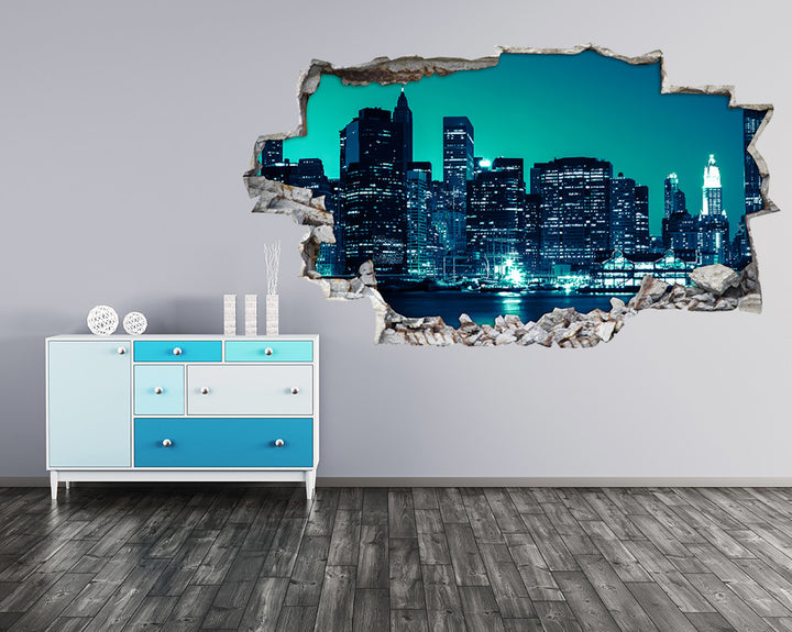 Blue City Night Hall Decal Vinyl Wall Sticker A109