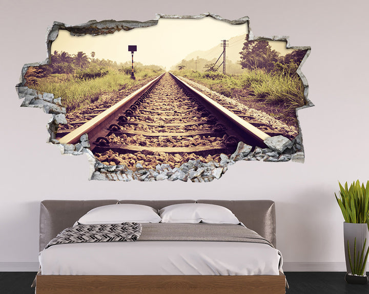 Countryside Railway Bedroom Decal Vinyl Wall Sticker A113