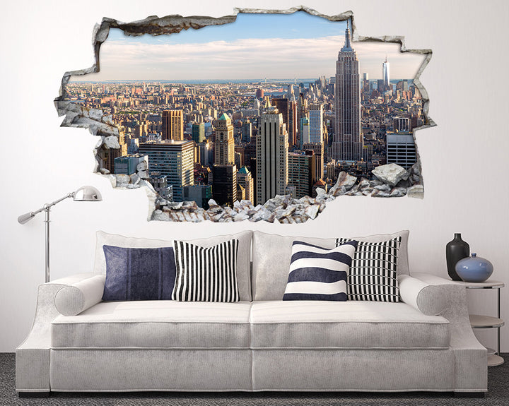 City Skyscrapers Living Room Decal Vinyl Wall Sticker A118