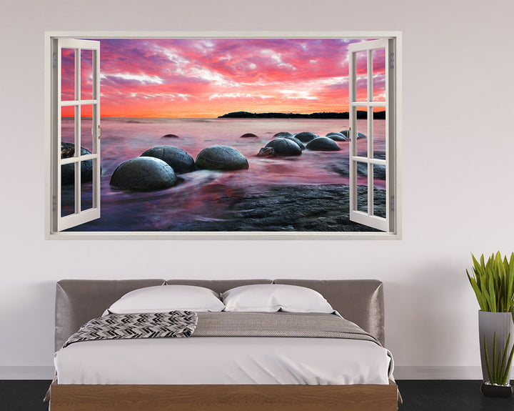 Scenic Rocks Sunset Bedroom Decal Vinyl Wall Sticker A119w