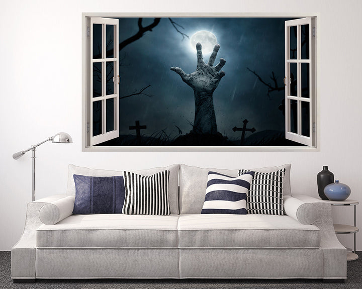 Scary Arm Graveyard Living Room Decal Vinyl Wall Sticker A127w