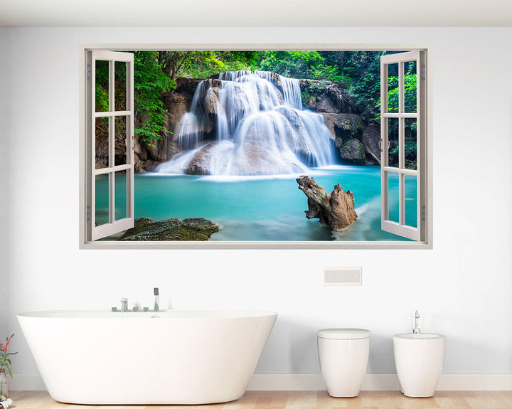 Beautiful Waterfall Bath Bathroom Decal Vinyl Wall Sticker A129w
