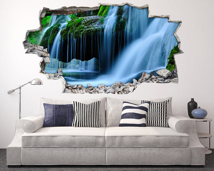 Cool Waterfall Lake Living Room Decal Vinyl Wall Sticker A140
