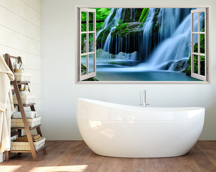 Forest Waterfall Bathroom Decal Vinyl Wall Sticker A140w