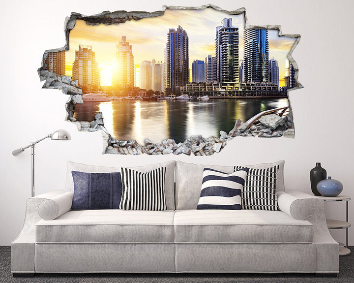 Sun Shining City Living Room Decal Vinyl Wall Sticker A178