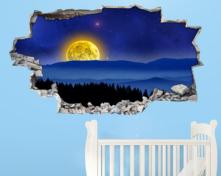 Scenic Night Moon Nursery Decal Vinyl Wall Sticker A180