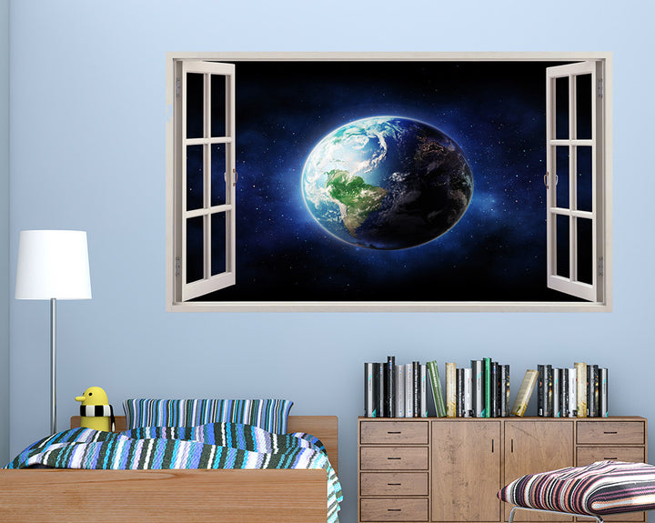 Cool Galaxy Earth Boys Bedroom Decal Vinyl Wall Sticker A204w