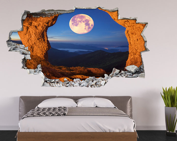 Cool Moon Cave Bedroom Decal Vinyl Wall Sticker A213
