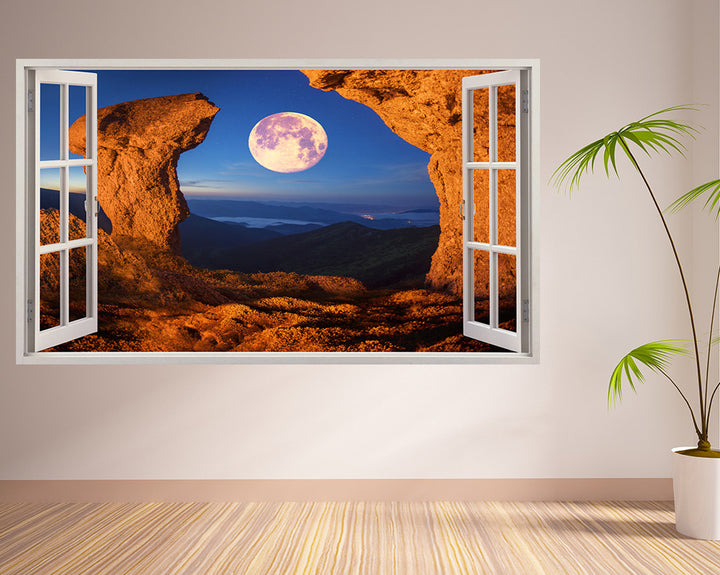 Cool Moon Cave Hall Decal Vinyl Wall Sticker A213w