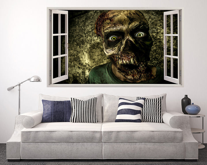 Cool Scary Zombie Living Room Decal Vinyl Wall Sticker A219w