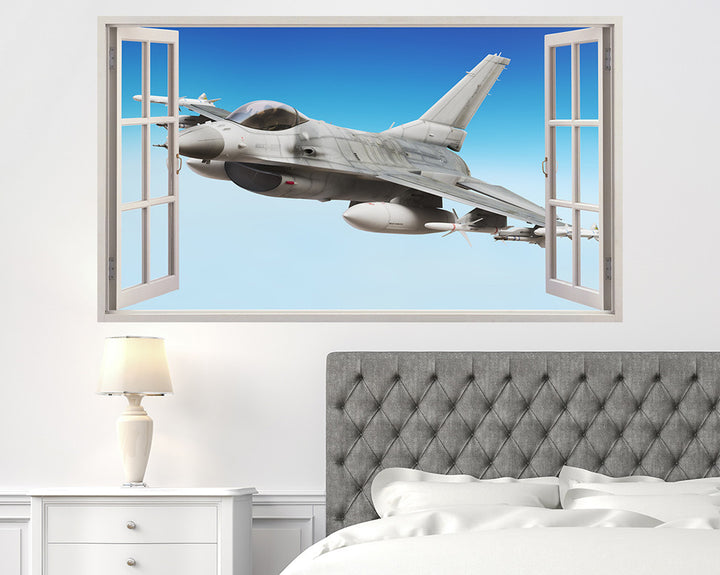 Cool Jet Plane Sky Bedroom Decal Vinyl Wall Sticker A222w