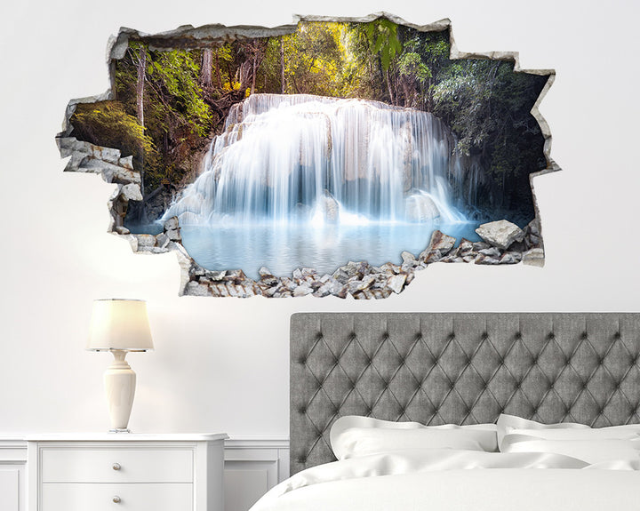 Cool Waterfall Forest Bedroom Decal Vinyl Wall Sticker A225