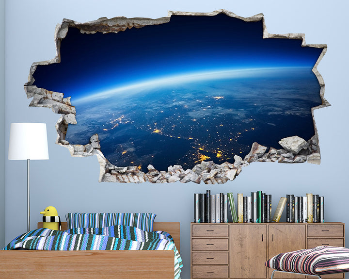 World Blue Horizon Boys Bedroom Decal Vinyl Wall Sticker A228