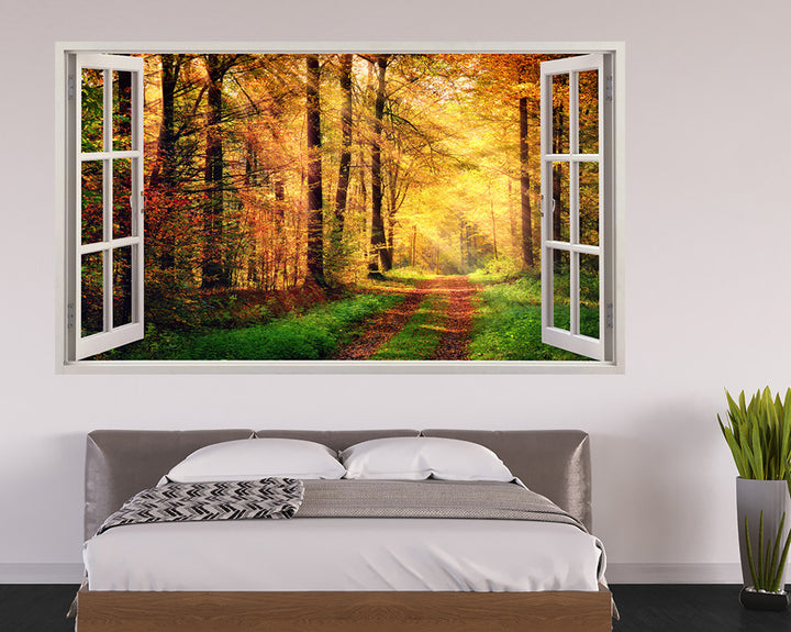 Bright Autumn Forest Bedroom Decal Vinyl Wall Sticker A237w