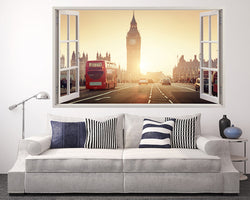 Sunny London Bus Living Room Decal Vinyl Wall Sticker A261w