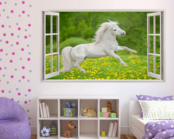 White Horse Field Girls Bedroom Decal Vinyl Wall Sticker A267w
