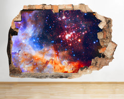 AA057 Space Stars Cosmic Galaxy Smashed Wall Decal 3D Art Stickers Vinyl Room