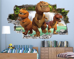 Dinosaurs Kids Cute Boys Bedroom Decal Vinyl Wall Sticker B177
