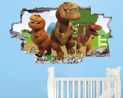 Dinosaurs Kids Cute Nursery Decal Vinyl Wall Sticker B178