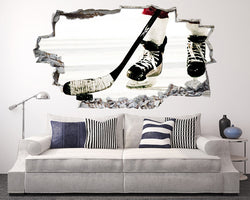 Ice Hockey Sport Living Room Decal Vinyl Wall Sticker C001