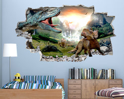 Dinosaurs Waterfall Cool Boys Bedroom Decal Vinyl Wall Sticker C147