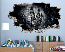 Dinosaur Foot Print Boys Bedroom Decal Vinyl Wall Sticker C157