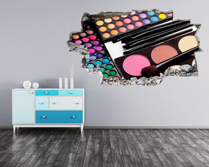 Make-Up Cosmetics Palette Salon Decal Vinyl Wall Sticker C234