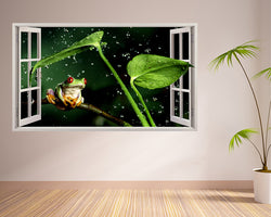 Green Tree Frog Plant Living Room Decal Vinyl Wall Sticker C271