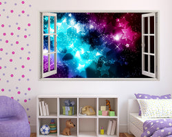 Neon Stars Dreams Girls Bedroom Decal Vinyl Wall Sticker C328