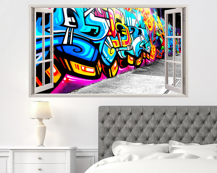 Colourful Graffiti Bedroom Decal Vinyl Wall Sticker C340