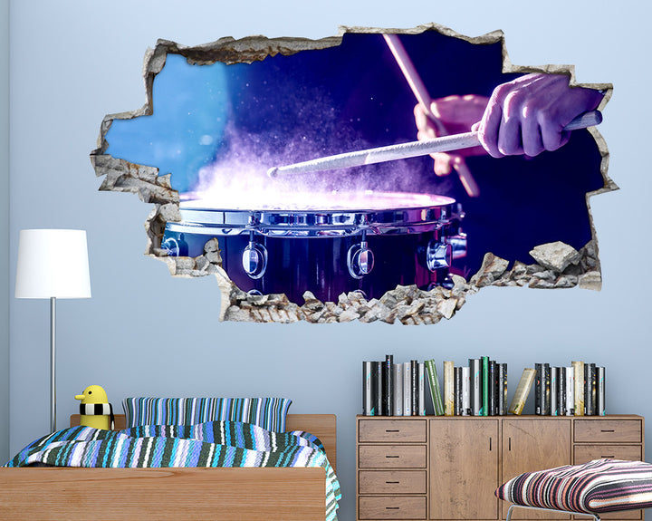 Drum Music Band Boys Bedroom Decal Vinyl Wall Sticker C572