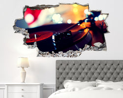 Music Vinyl Record Bedroom Decal Vinyl Wall Sticker C575