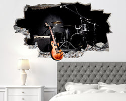 Music Band Guitar Stage Bedroom Decal Vinyl Wall Sticker C585