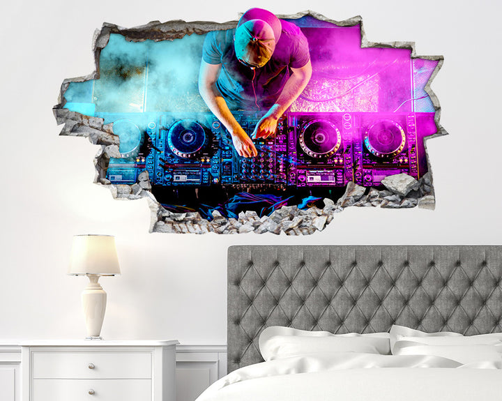 Music DJ Decks Beats Bedroom Decal Vinyl Wall Sticker C586