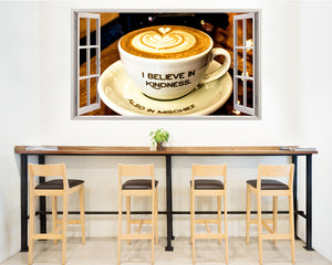Coffee Kindness Mischief Café Decal Vinyl Wall Sticker C881