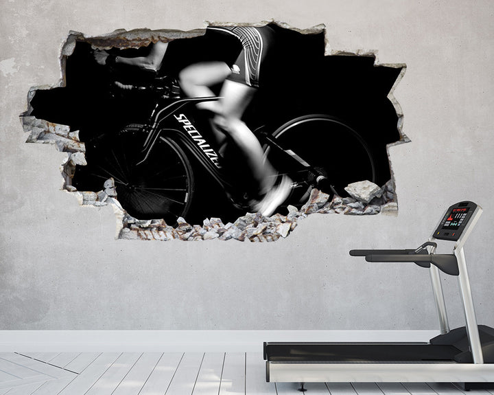 Spin Class Cycle Bike Gym Decal Vinyl Wall Sticker C928